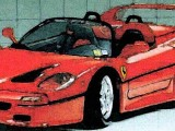 A Photograph of a Ferrari F50 with Photoshop added