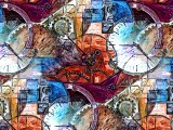 A Watch Inspired Oil Painting with Gimp added Number Two