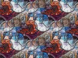 A Watch Inspired Oil Painting Mosaic with much Gimp added
