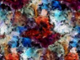 An Abstract Painting with colors from a Watch Inspired Painting with Gimp added